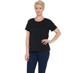 Joan Rivers Wardrobe Builders Tee Shirt with Hem D
