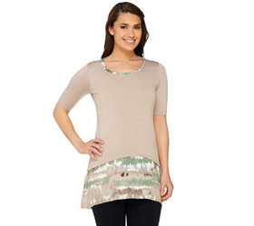 LOGO by Lori Goldstein Regular Knit Top with Print