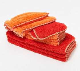 Set of 10 Puppy Fur Microfiber Towels & Mitts by C