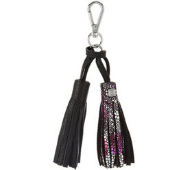 LODIS Italian Leather Purse Charm with Charging Ca