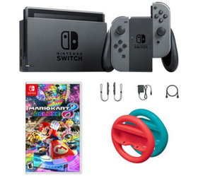 Nintendo Switch Gray with Mario Kart 8 and Redand