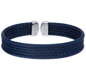 ALOR Cable Stainless Steel 5-Row Flexible Cuff - J