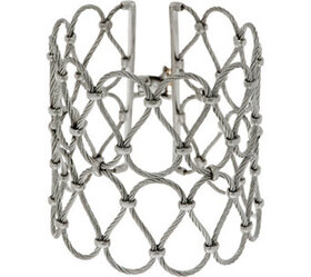"""""""As Is"""" ALOR Cable Stainless Steel Wide Openwork B"""
