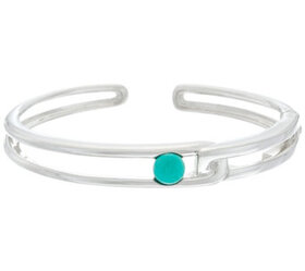 """""""As Is"""" Franco P Sterling Duality Turquoise Cuff B"""