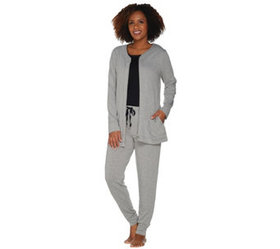 """""""As Is"""" Carole Hochman French Terry 3 Piece Jogger"""
