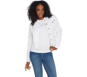 """As Is"" Isaac Mizrahi Live! TRUE DENIM Jean Jacket"