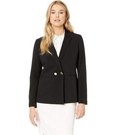 Nine West Two-Button Peak Collar Double Breasted J