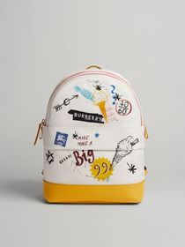 Ice-cream Print Cotton Canvas Backpack in Larch Ye