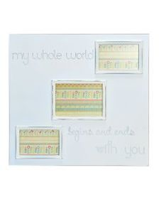 3 Opening Distressed White Sentiment Collage Frame
