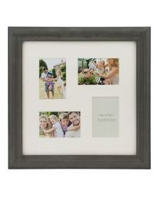 4 Opening Distressed Gray Collage Frame