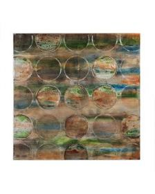 Turquoise Circles Wall Canvas