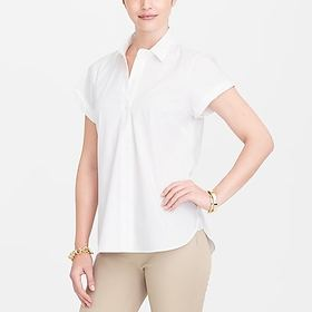 factory womens Short-sleeve popover shirt