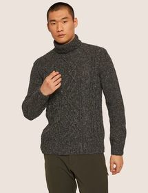 CABLE STITCH WOOL-BLEND TURTLENECK