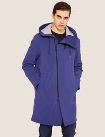 BONDED FLEECE HOODED ASYMMETRICAL ZIP COAT