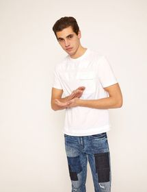 PATCH POCKET TONAL STRIPE CREW