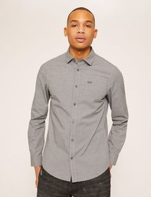 SLIM-FIT STRETCH DOT SHIRT