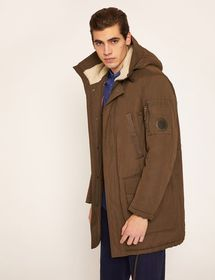 FAUX-SHERPA LINED UTILITY PARKA