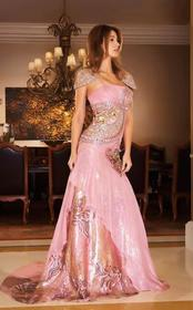 MNM Couture - 6131 Embellished Straight Across A-l
