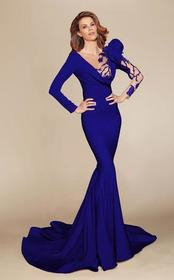 MNM Couture - 2404 Illusion Plunging Neck Mermaid