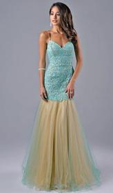 Nina Canacci - 7311 Dress in Mint Nude