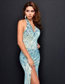 Nina Canacci - 8050 Dress in Turqouise