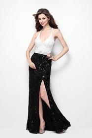 Primavera Couture - 1416 Sleeveless Sequined Long