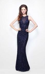 Primavera Couture - 1475 Sequined Sheath Long Dres