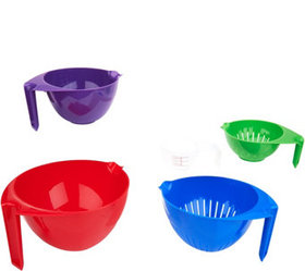 """""""As Is"""" Cook's Essentials Set of 5 Mixing Bowls &"""