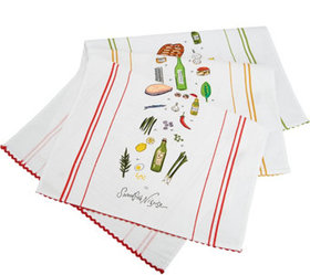 Rachael Ray Set of 3 Recipe Kitchen Towels - K4636
