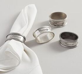 Antique Silver Sentiment Napkin Ring