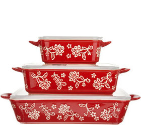 Cook's Essentials Santa Rosa 3-Pc Ceramic Bakers w