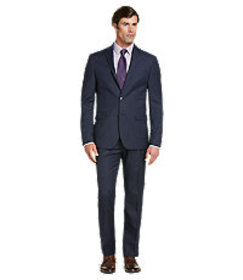 Traveler Collection Slim Fit Textured Weave Suit-