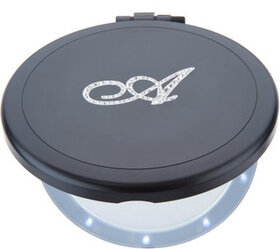 """As Is"" Dual Magnification Mirror with Crystal Ini"