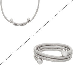 """""""As Is"""" Italian Silver 4-in-1 Convertible Necklace"""