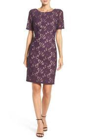 Adrianna Papell - Lace Bateau Sheath Dress AP1D100