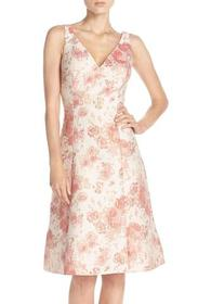 Aidan Mattox Sleeveless V-Neck Floral Cocktail Dre