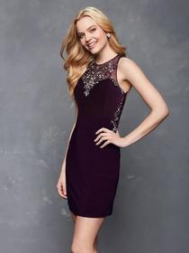 Clarisse s3115 Embellished Halter Sheath Dress - 1