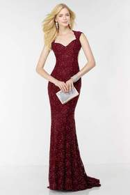 Alyce Paris - 6586 Beaded Lace Sweetheart Sheath D