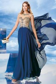 Alyce Paris - 6463 Long Dress In Cobalt