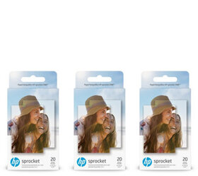 """""""As Is"""" HP Sticky-Back Pack of 3 ZINK Photo Paper"""