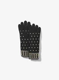 michael michael kors Studded Wool-Blend Gloves