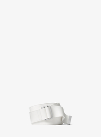 michael kors collection Wide Calf Leather Double-R
