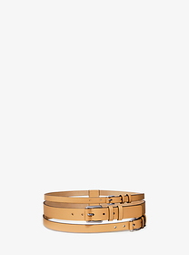 michael kors collection Layered Leather Belt