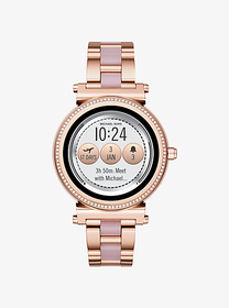 michael kors access Sofie Pavé Rose Gold-Tone and