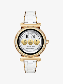 michael kors access Sofie Pavé Gold-Tone and Silic