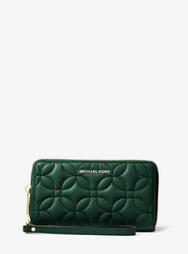 michael michael kors Large Quilted Leather Smartph
