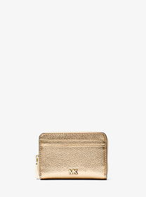 michael michael kors Small Metallic Pebbled Leathe