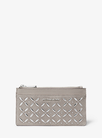 michael michael kors Embellished Large Suede Card