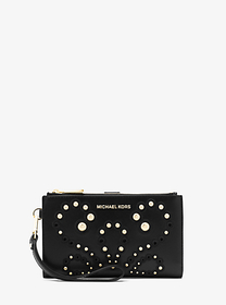 michael michael kors Adele Embellished Leather Sma