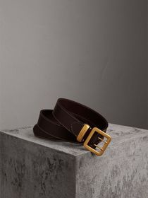 Double-pin Buckle Leather Belt in Auburn